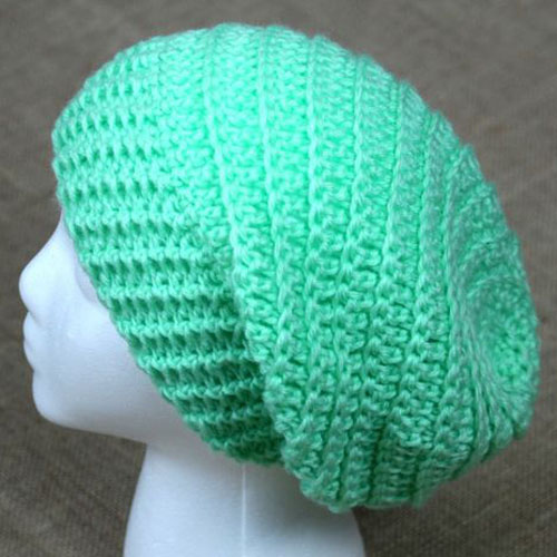 Round Slouchy Hat - Free Pattern
