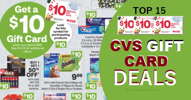 Top 15 CVS Wellness Gift Card Deals