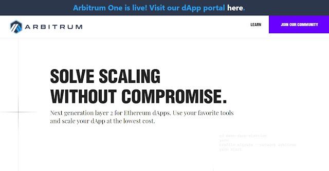 Screenshot Website Arbitrum (ARB)