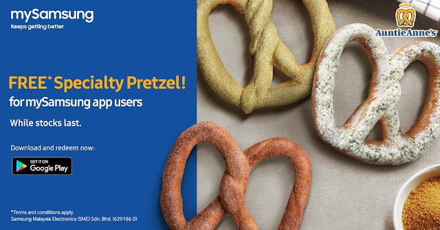 mySamsung App User FREE Auntie Anne's Specialty Pretzel