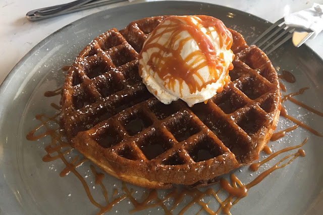 atlas coffee house review price Salted Caramel Buttermilk Waffles