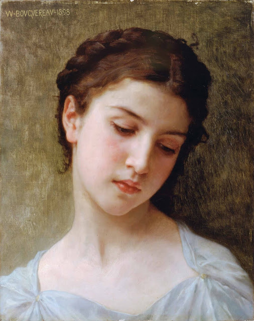 Адольф Вильям Бугро - Голова девушки (1898)