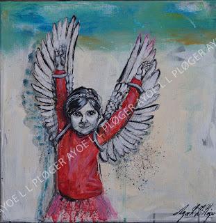 Maleri,kunst,art,noget til vægen,glade farver,acryl,gør noget selv, vinger, wings,børn,clean world,