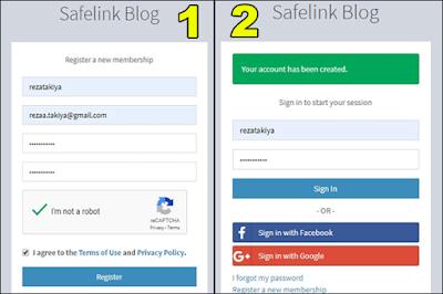 cara daftar safelinkblog