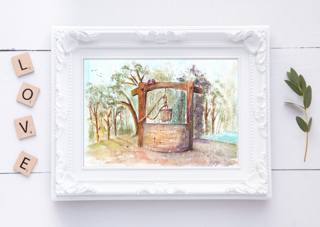 Water Well Watercolor