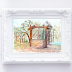 Water Well Watercolor Art Print