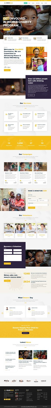 Nonprofit Charity Template