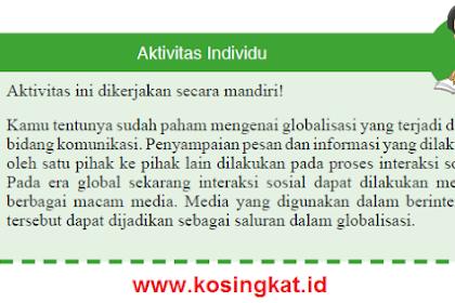 Kunci Jawaban IPS Kelas 9 Halaman 118 Aktivitas Individu