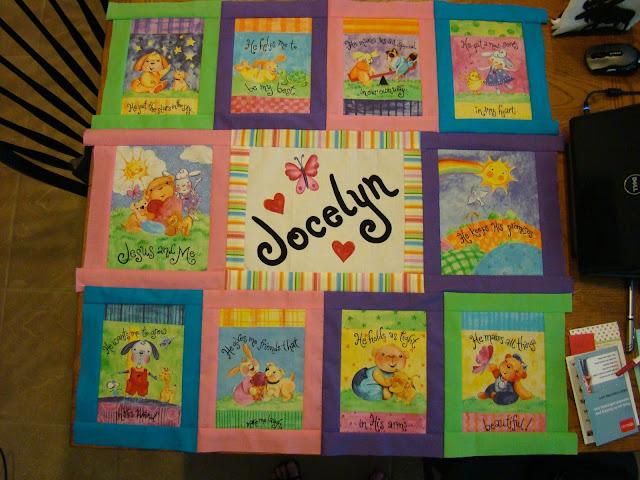 Fabric book panel quilt