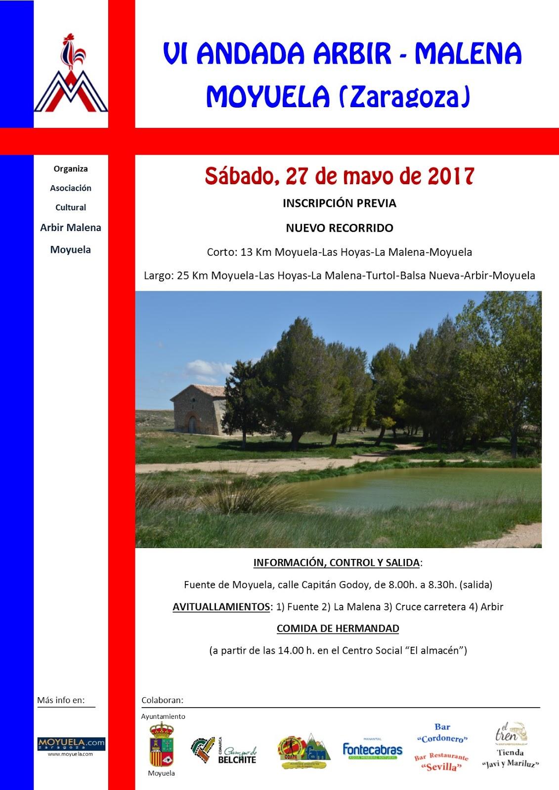 Cartel de andada Arbir-Malena 2017