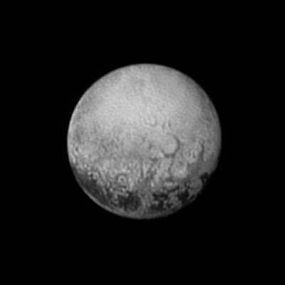 Pluto from 4 Million KM. NASA
