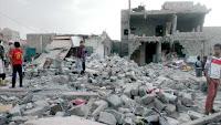 Etter et bombeangrep i Sanaa oktober 2015. Foto VoiceOfAmerica, public domain, via Wikimedia.