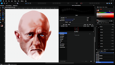 Vector portrait of Jonathan Banks