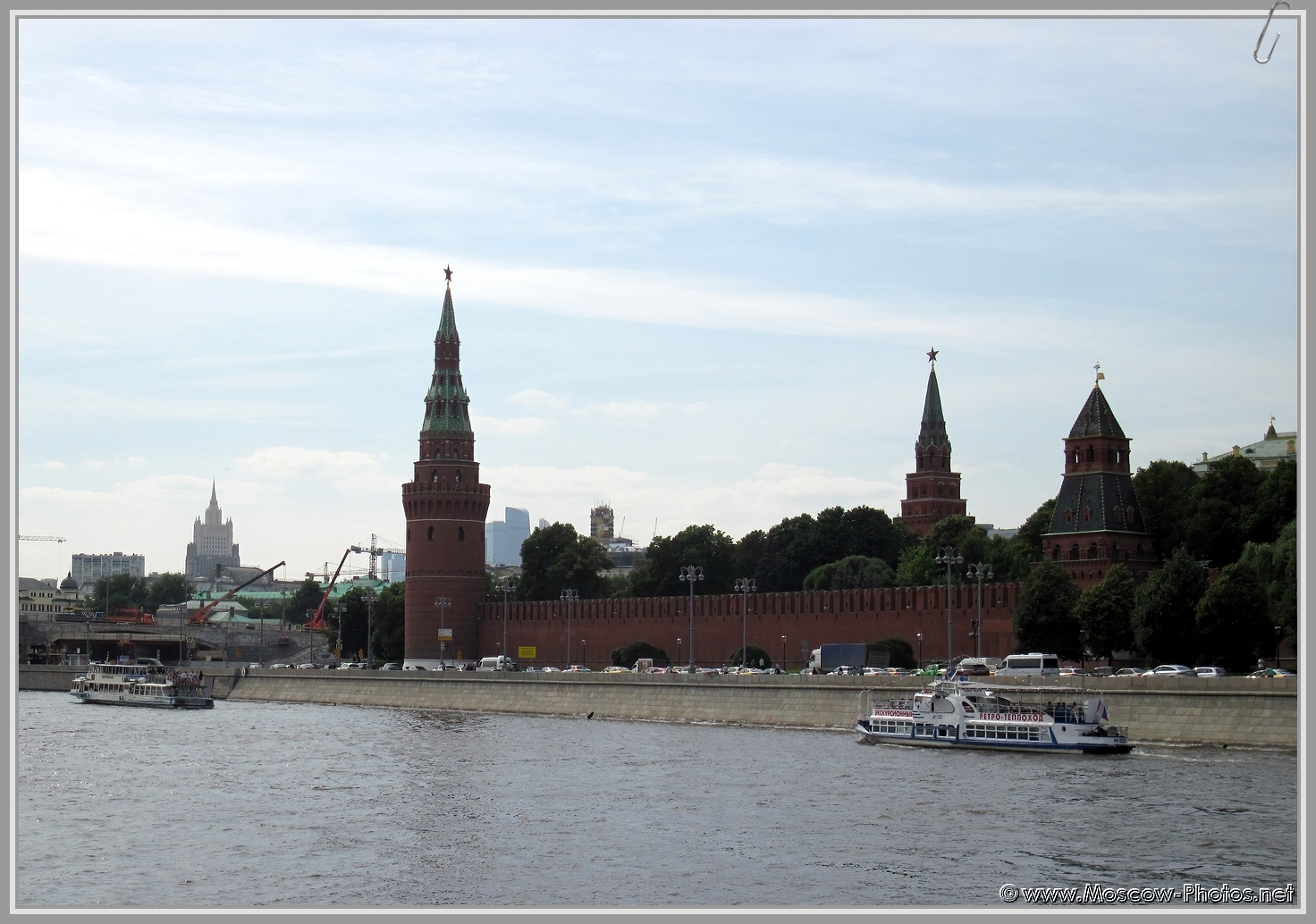 Ships on the Moscow (Moskva) River