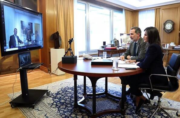 King Felipe and Queen Letizia held a video conference with Mercadona's President Juan Roig for the coronavirus pandemic