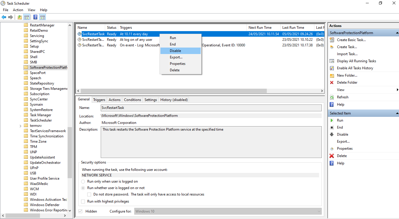 Windows lemot karena microsoft software protection platform services