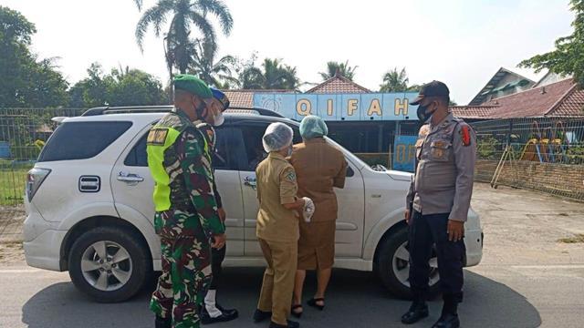 Laksanakan Pos Pam Idul Fitri 2021 Bersama Instansi Terkait Dilakukan Personel Jajaran Kodim 0207/Simalungun