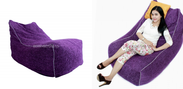 Purple Lounge Bean Bag