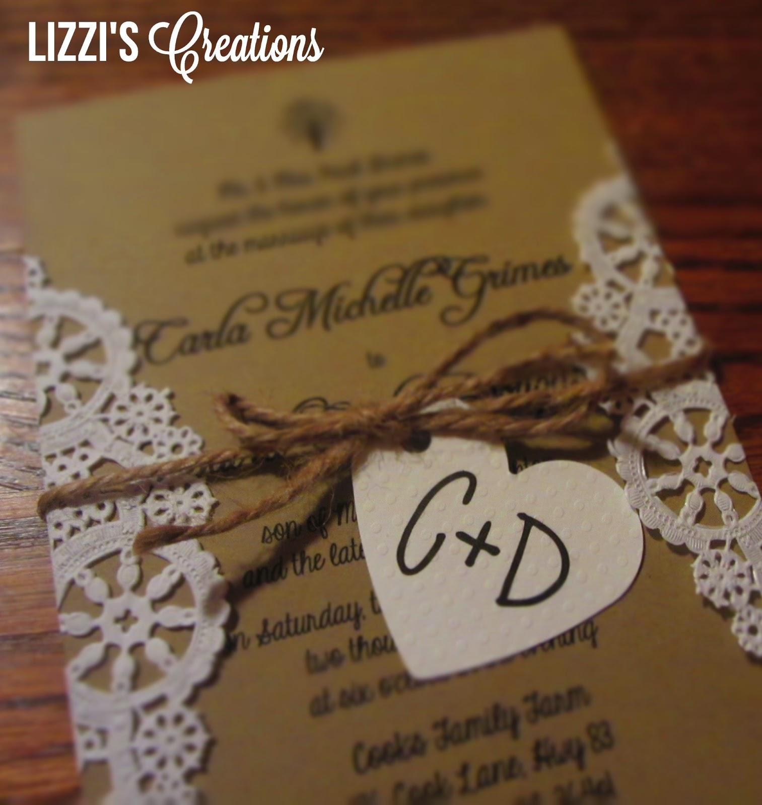 Rustic Wedding Invitations: Lizzi's Creations: Project Wedding: Invitations And Programs