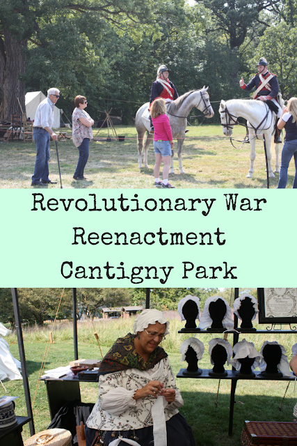 Family day exploring the Revolutionary War Reenactment at Cantigny Park.