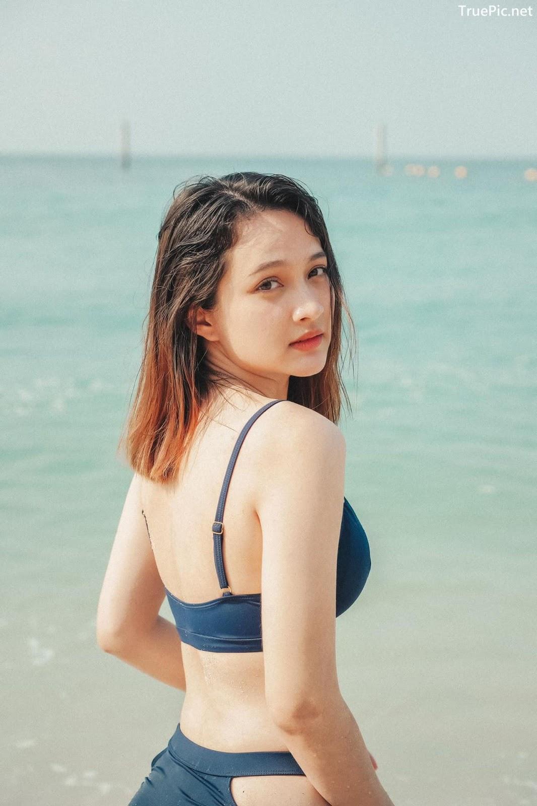 Image Thailand Model - Catherina Nybraaten - Dark Blue Bikini - TruePic.net - Picture-6