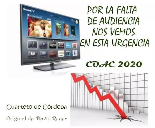 El Cuarteto de Córdoba será para el COAC 2020 Por La Falta De Audiencia Nos Vemos En Esta Urgencia