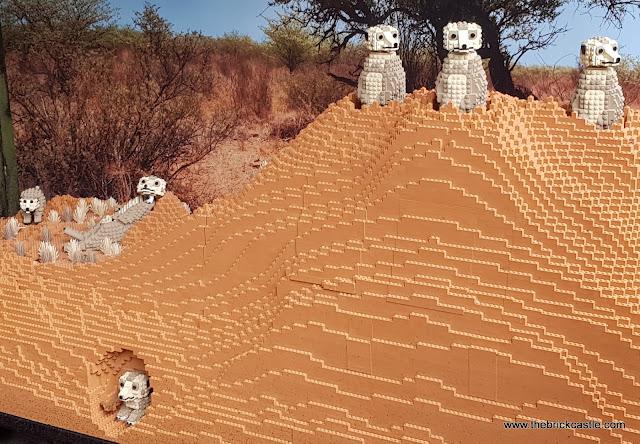 Knowsley Ultimate LEGO Brick Safari trail Meerkats