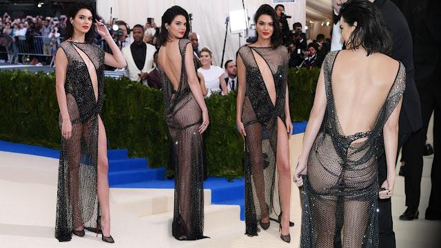 عارضة الأزياء كيندال جينر في أجرأ إطلالة في حفل الـ Met Gala