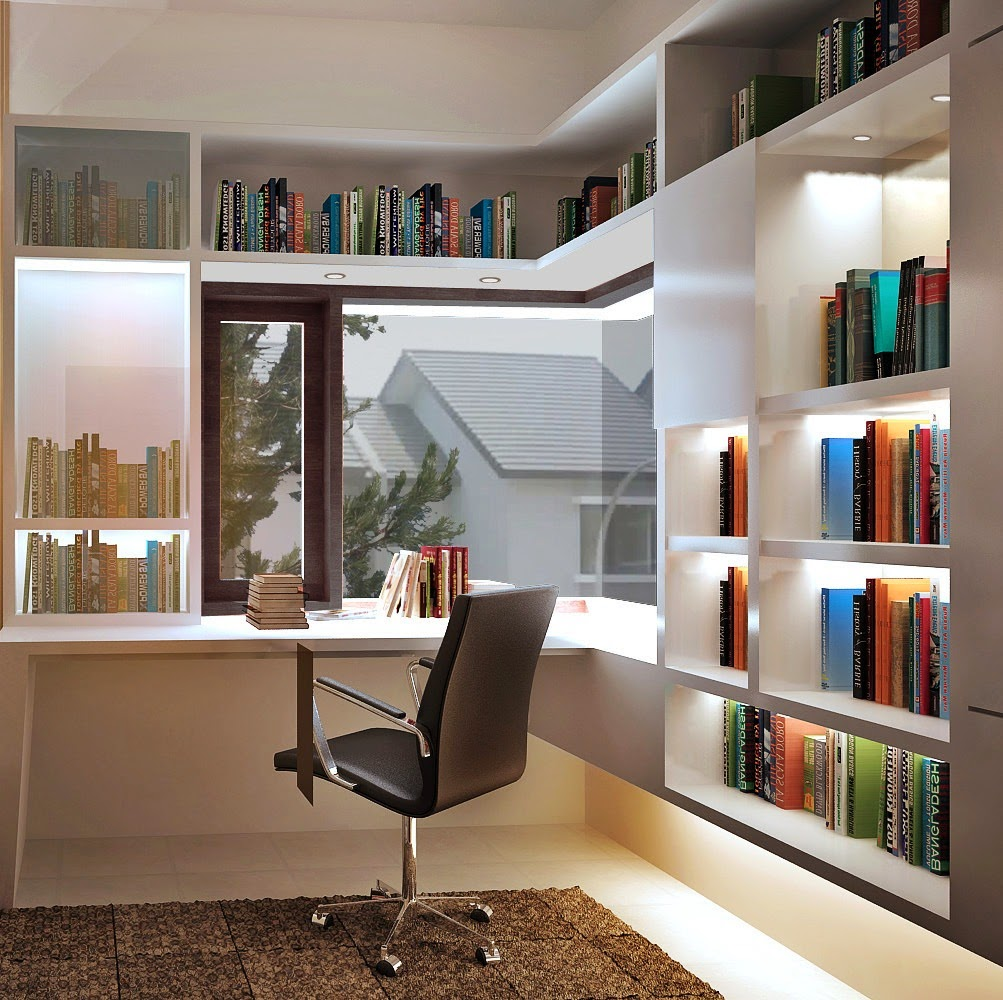 Menata+buku+Di+Ruang+Kerja+Minimalis