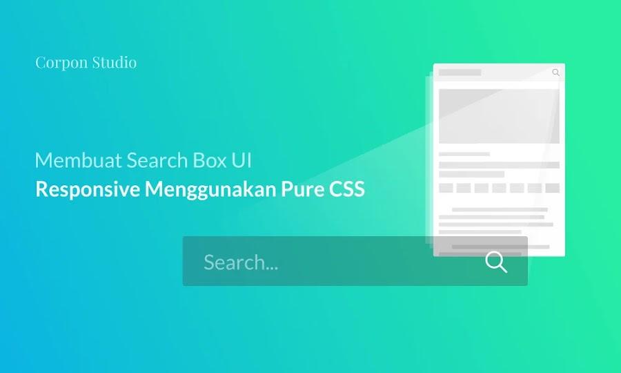 Cara Membuat Search Bar Melayang Responsive Pure CSS