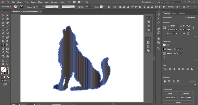 Digital Line Art Effect in Adobe Illustrator