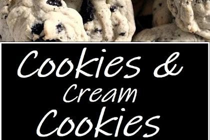 Cookies & Cream Cookies #cookierecipes #cookies #dessert