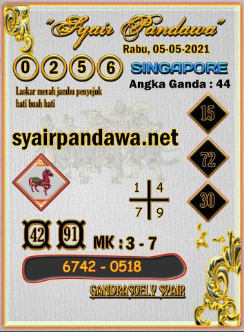Gambar Syair Pandawa Sgp rabu 05 mei 2021