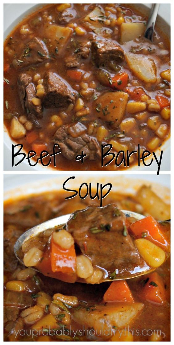 Hearty Beef & Barley Soup #hearty #heartybeef #barley #soup #barleysoup #souprecipes #easysouprecipes