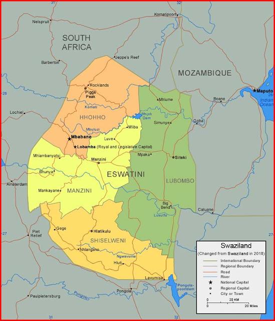 Gambar Peta Swaziland