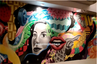 Restaurant Wall Mural Artist In Mumbai | Restaurant Wall Painting
