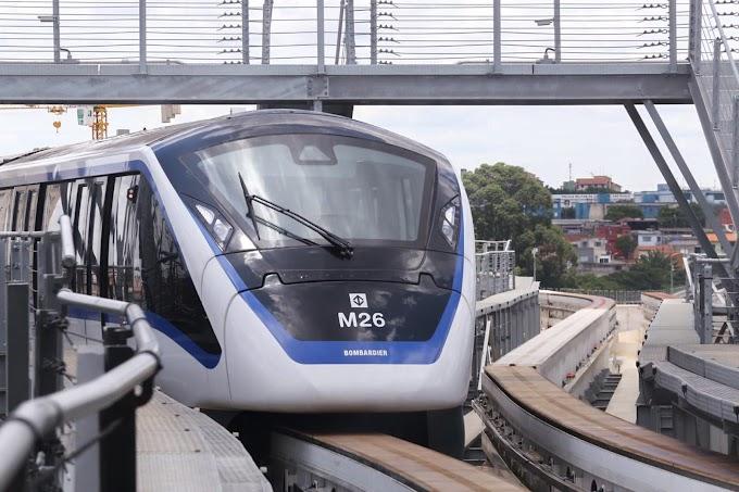 Ato de vandalismo provoca lentidão na Linha 15-Prata do Monotrilho na manhã desta terça-feira, dia 31/12