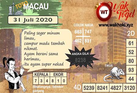 Prediksi Bangbona Toto Macau JP Jumat 31 Juli 2020