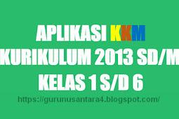Aplikasi KKM/KBM Kurikulum 2013 Kelas 1 s/d 6