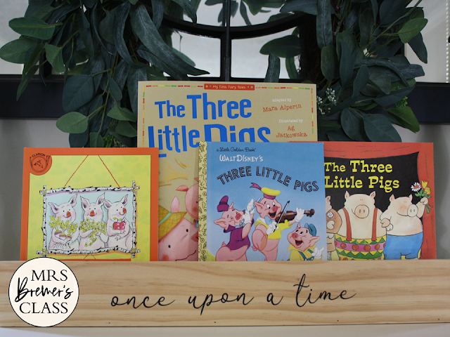 The Three Little Pigs Fairy Tales activities unit with Common Core aligned literacy companion activities for First Grade and Second Grade