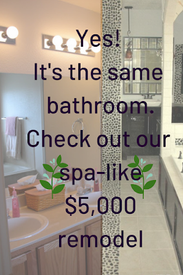 Yes! It's the same bathroom - our $5,000 DIY spa bath remodel