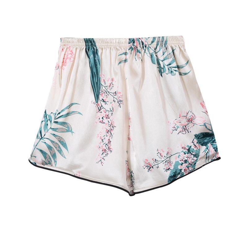 Bộ Pijama ngủ 7 chi tiết bằng lụa mặc nhà dễ thương 13