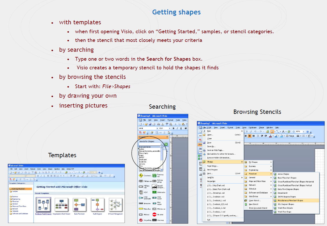 how to connect streams in visio