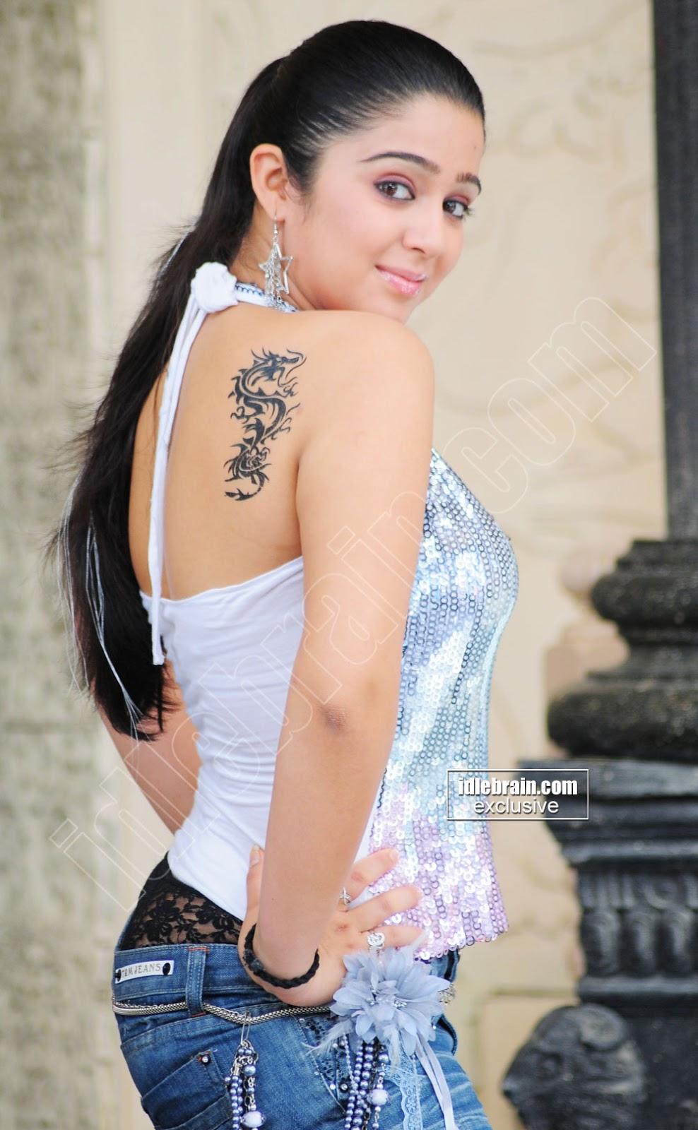 Hot Actress Charmi Hot Ass Panty Show-6855