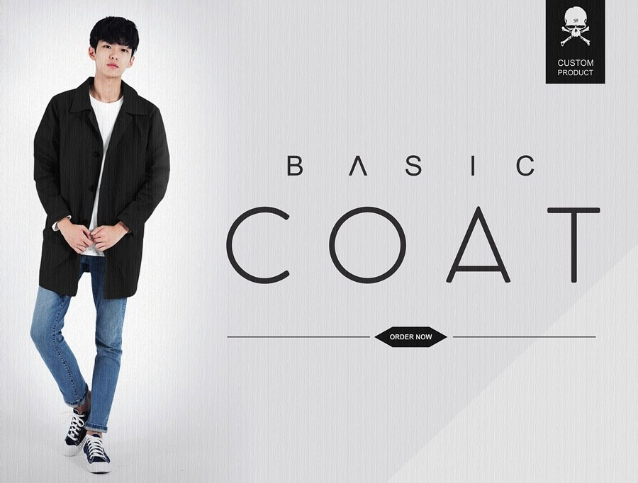 basic coat at fashion cowok pria
