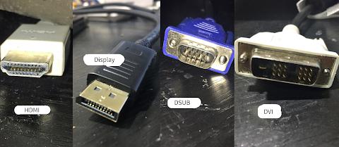 パソコンとテレビに接続可能なケーブルの種類