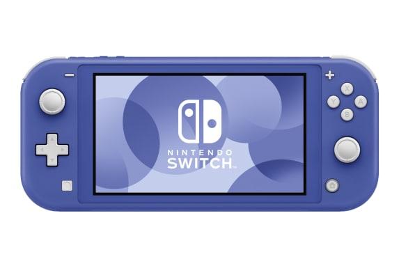Tampak Depan Nintendo Switch Lite Biru