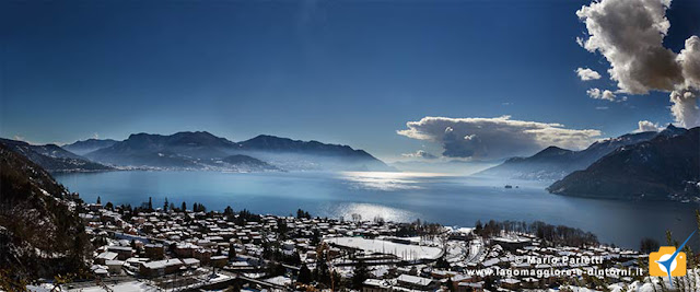 Maccagno e il lago Maggiore da Veddo