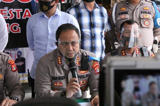 Konferensi Pers Polresta Bandar Lampung: Viral Aktris Lakukan Dugaan  Prostitusi Online