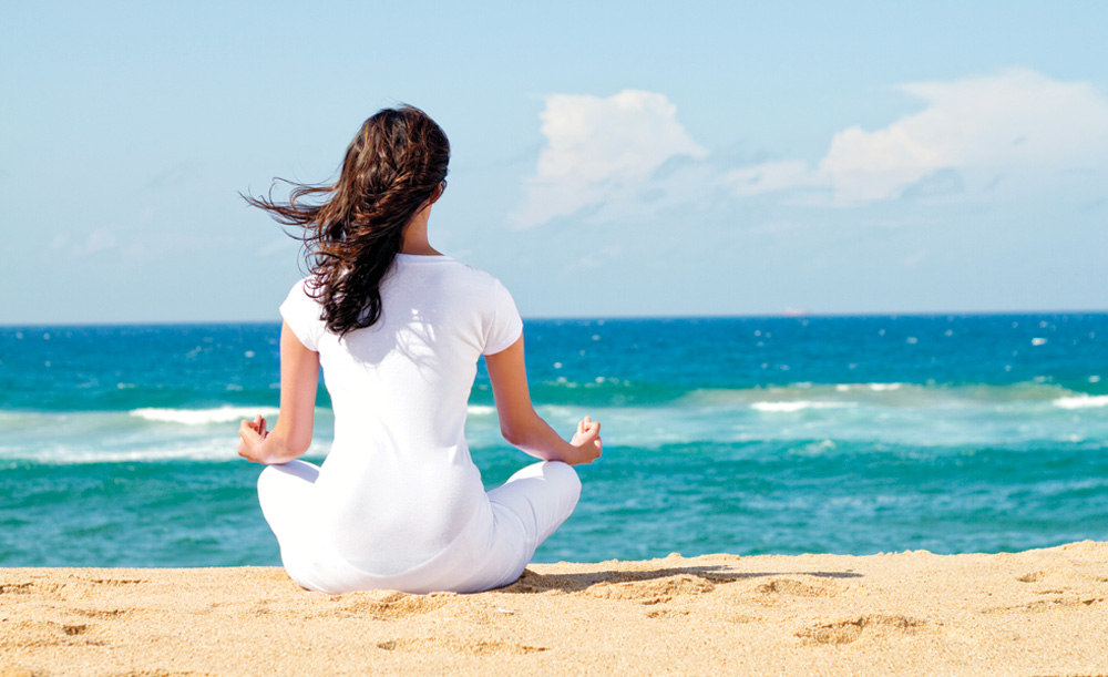 sea, beach, meditation